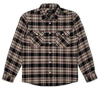 Brixton Men's Bowery Standard Fit Long Sleeve Flannel Shirt