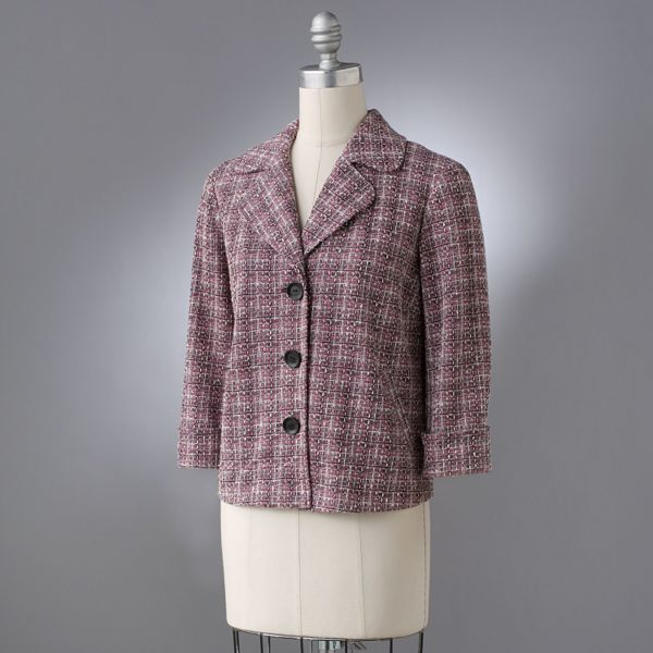 Notations Plaid Lurex® Tweed Jacket