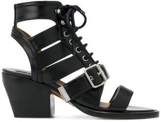 Chloé lace-up chunky heel sandal