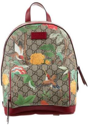 Gucci Small GG Supreme Blooms Backpack brown Small GG Supreme Blooms Backpack