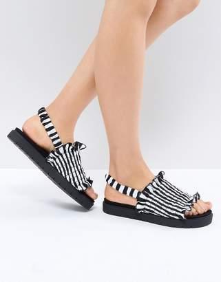 Monki Stripe Sandal
