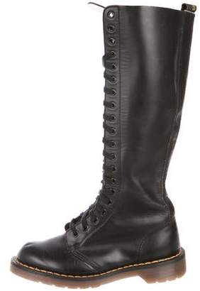 Dr. Martens Round-Toe Mid-Calf Boots
