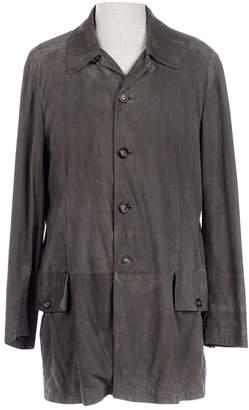 Giorgio Armani Green Suede Coats