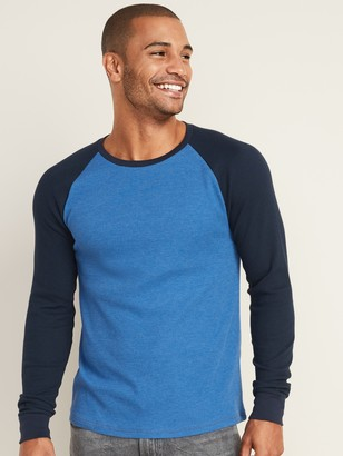 Old Navy Soft-Washed Thermal-Knit Baseball Tee for Men