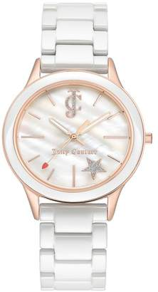 Juicy Couture Women's Mother of Pearl Rose Gold-Tone Bracelet Watch, 38mm