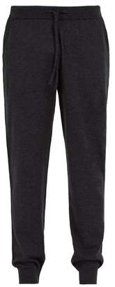 Sunspel Wool Track Pants - Mens - Charcoal