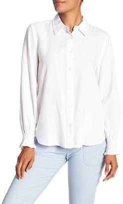 Joe Fresh Linen Blend Smocked Cuff Shirt