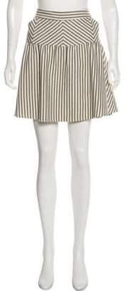 Diane von Furstenberg Mini Stripe Skirt