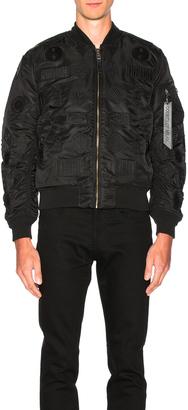 Marcelo Burlon Pissis Alpha MA-1 Jacket $952 thestylecure.com