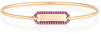 Rubie's Costume Co Jemma Wynne Personalized Prive Rectangle Bangle with in 18K Rose Gold