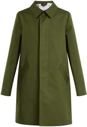 A.P.C. Belleville single-breasted cotton-blend coat