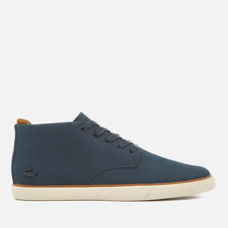 58ef1138c Lacoste Men s Esparre Chukka 318 1 Leather Suede Derby Chukka Boots