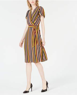 Bar III Striped Wrap Dress
