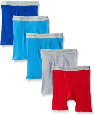 Hanes Big Boys' Comfort Flex Long Leg Boxer Brief (Pack of 5)