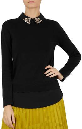 Ted Baker Moliiee Embellished-Collar Sweater