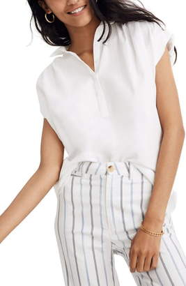 Madewell Eyelet White Central Popover Shirt