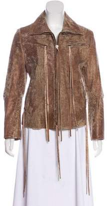 Ann Demeulemeester Leather Zip-Up Jacket