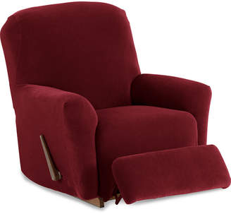 JCPenney Maytex Mills Maytex Smart Cover Collin Pinstripe Stretch 4 Piece Recliner Chair Furniture Cover Slipcover