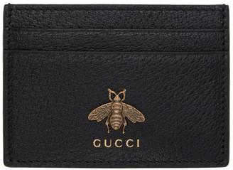 Gucci Black Bee Card Holder