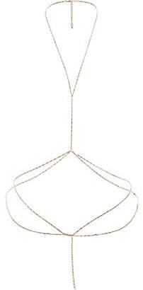 River Island Womens Gold tone orange harness body chain