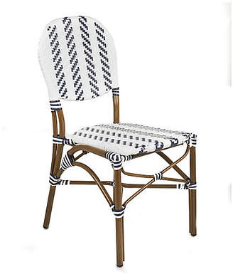 Tiab Inc. Café Outdoor Bistro Side Chair - Navy/White