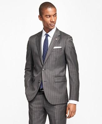 Brooks Brothers Milano Fit Saxxon Wool Multi-Stripe 1818 Suit
