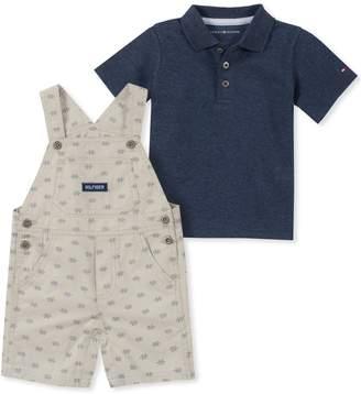 Tommy Hilfiger 2-Piece Baby Boy's Short Overalls Set