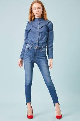 Forever 21 Sculpted High-Rise Step-Hem Jeans