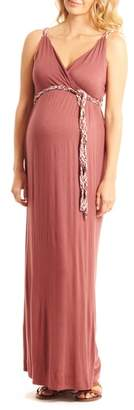 Everly Grey Sofia Maternity/Nursing Maxi Dress