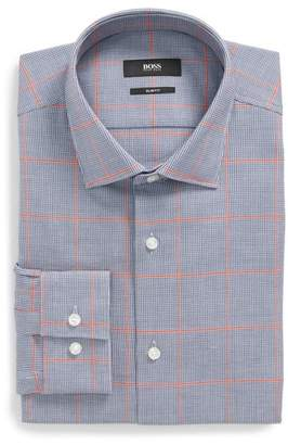 BOSS Ismo Slim Fit Windowpane Dress Shirt