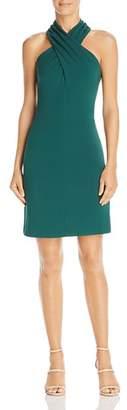 Eliza J Cross-Neck Halter Dress