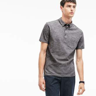 Lacoste Men's Slim Fit Heather Cotton Pique Polo