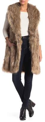 Betsey Johnson Metallic Faux Fur Vest