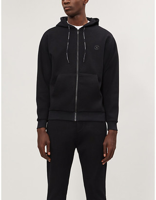 The Kooples Logo-detail stretch-jersey hoody