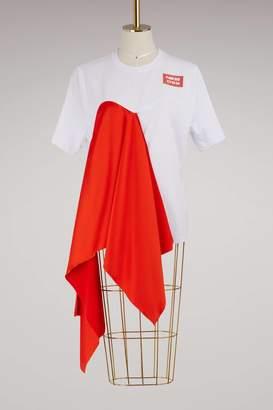 MSGM T-shirt with oversized ruffle