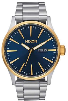 Nixon Sentry Stainless Steel Blue Bracelet Watch