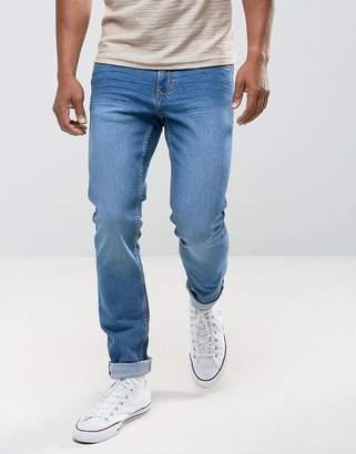 MANGO (マンゴ) - Mango Man Slim Jeans In Mid Wash