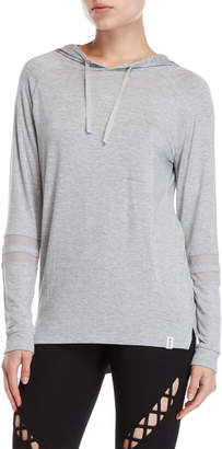 Andrew Marc Grey Raglan Hooded Tee