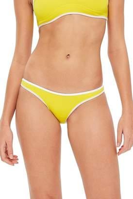 Topshop Contrast High Leg Bikini Bottoms