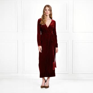 ac2b78da3e8 Rachel Zoe Aly Velvet Faux Wrap Midi Dress