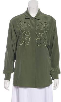 Saks Fifth Avenue Silk Button-Up Top w/ Tags