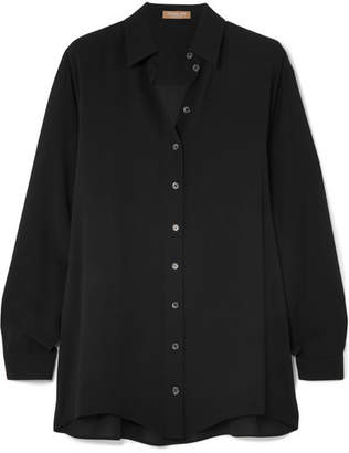 Michael Kors Silk-georgette Shirt - Black