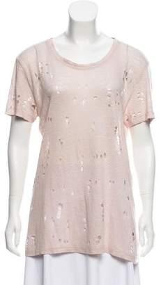 IRO Linen Distressed T-Shirt