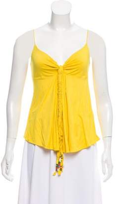 Ralph Lauren Sleeveless Gathered Top