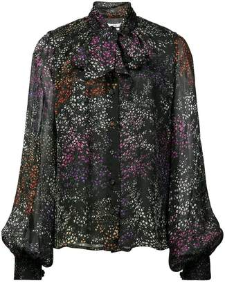 Co star print long-sleeve blouse