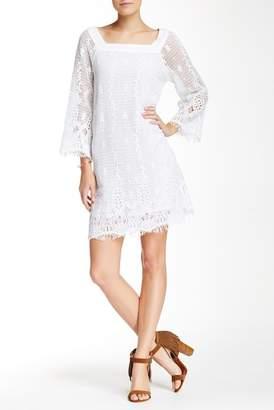 Gypsy 05 Gypsy05 3\u002F4 Length Sleeve Crochet Knit Dress