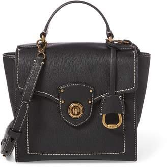 Ralph Lauren Leather Crossbody Satchel Bag