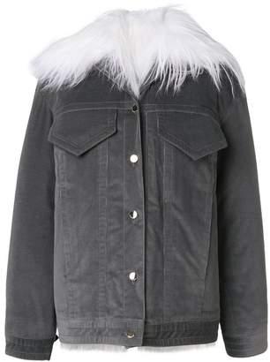 Nina Ricci contrast collar cord jacket
