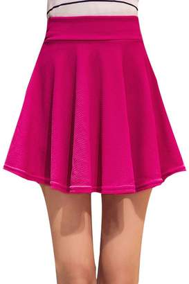LILIANG Short Skirts for Women All Fit School Skirt Pleated Plus Size High Waist Mini M