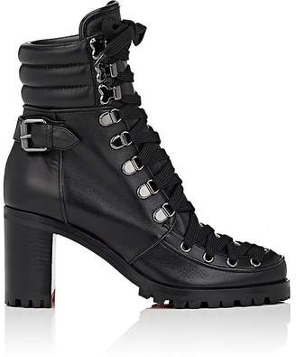 Christian Louboutin Women's Who Runs Leather Ankle Boots $1,595 thestylecure.com